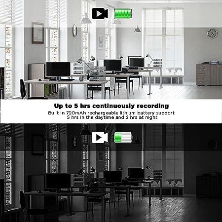 PORTOCAM HD 720p Cámara Oculta, Cámara Espía Pluma Mini Cuerpo Cámara Seguridad Video Recorder MAX 5 Horas de Grabación (sin Tarjeta SD incluida): ...