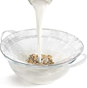 TENRAI Nut Milk Bag,Multiple Usage Reusable Food Strainer - Fine Mesh Nylon Almond Milk Bags - Cold Brew Coffee/Yogurt Filter/Ring (0.6Qt. 100 Micron)