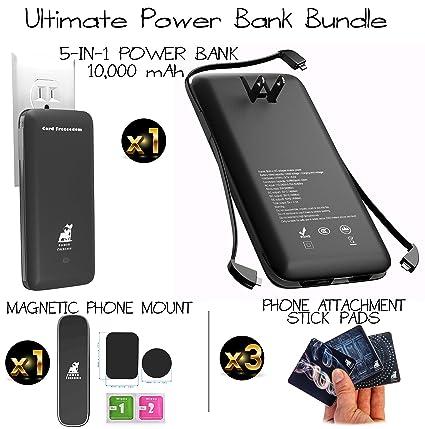Amazon.com: 5 en 1 Power Bank Bundle con soporte para ...