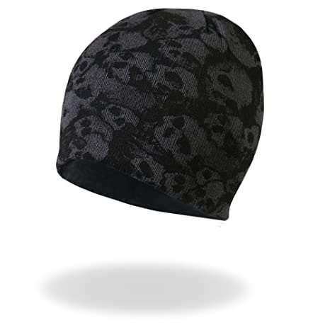 c9e5471ae6b88 Image Unavailable. Image not available for. Color  Hot Leathers Ancient  Skulls Knit Cap (Black ...
