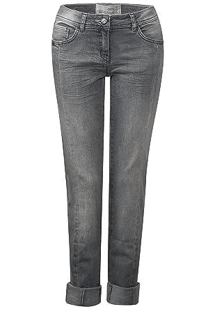 großer Lagerverkauf gutes Angebot preiswert kaufen Cecil, Damen Jeans Hose, Charlize Slim,Stretchdenim,Grey ...