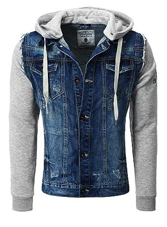 online store 92079 a14a2 Cipo Baxx Jeansjacke Stoffärmel Brusttaschen
