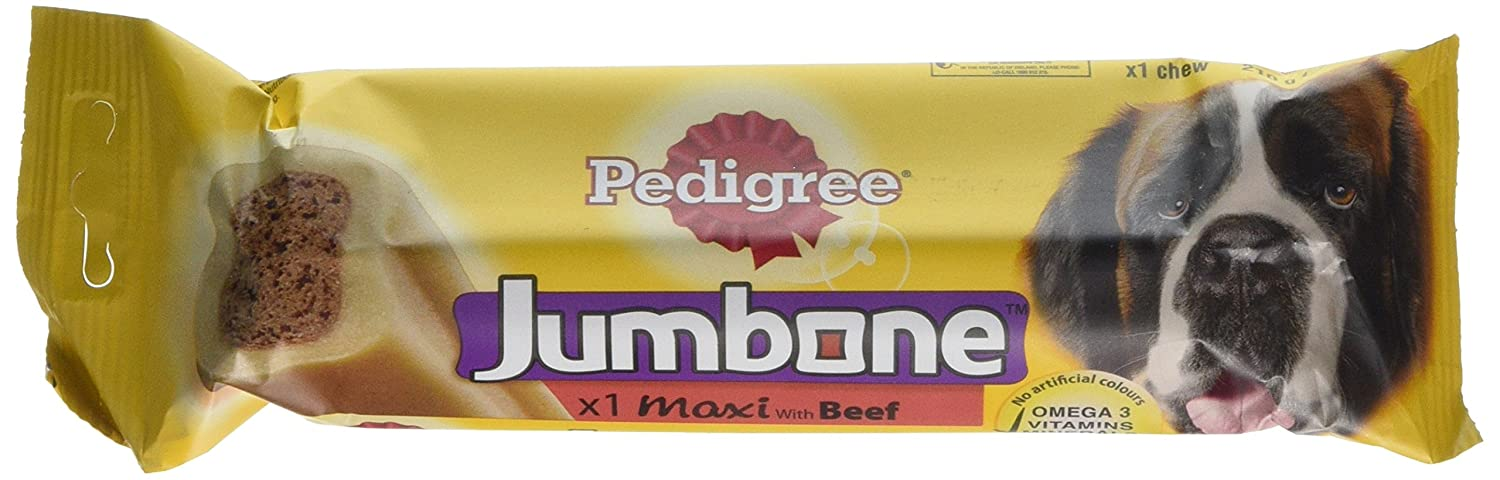 Pedigree Jumbone Maxi with Chicken and Rice 1 Chew, 210 g, Pack of 12 Treats Mars Petcare Uk 187602