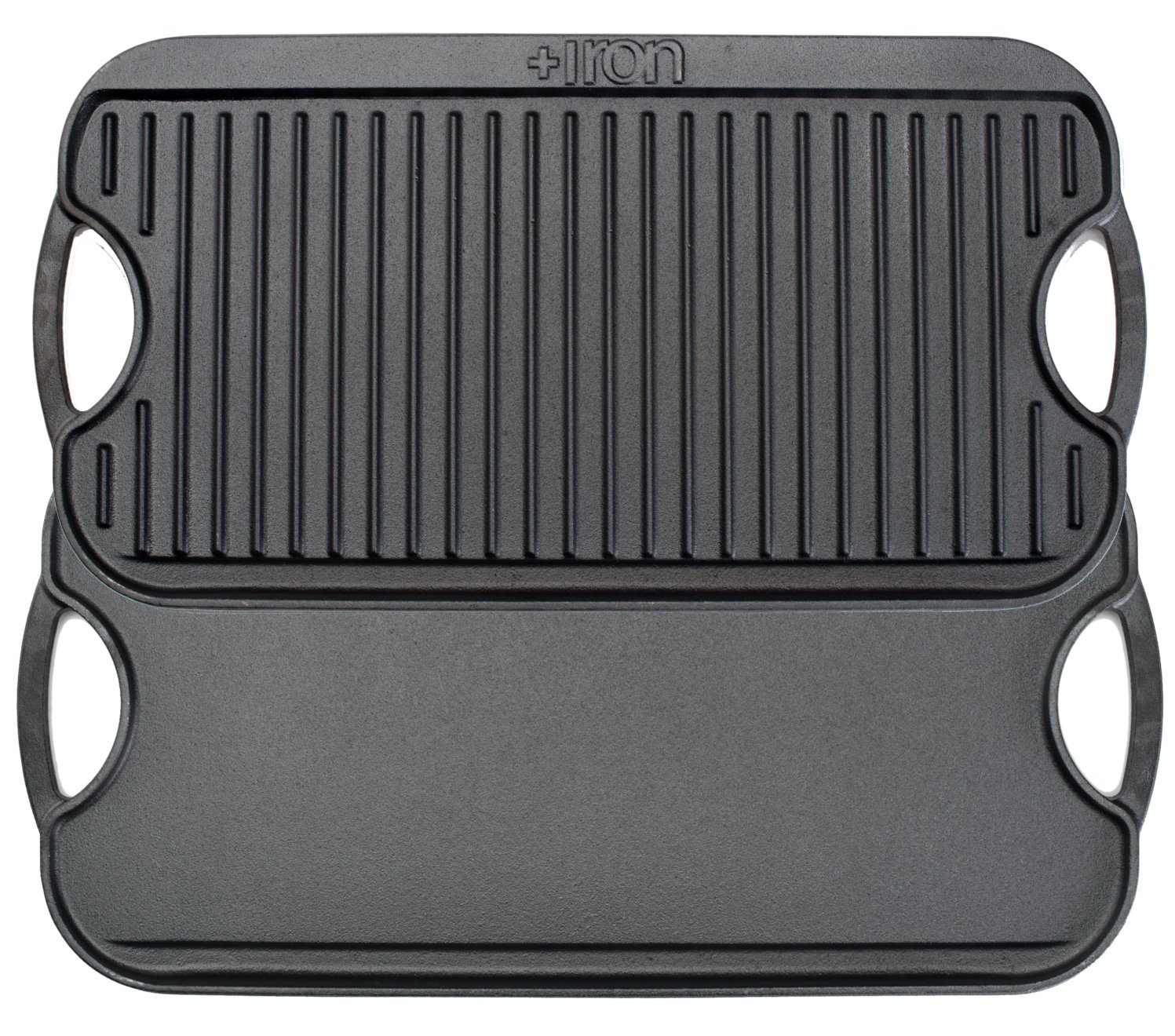 +Iron Griddle Cast Iron Reversible Grill/Griddle 20 inch x 10 inch +Steel
