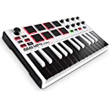 Akai Professional MPK Mini MKII | 25-Key Portable USB MIDI Keyboard With 16 Backlit Performance-Ready Pads, 8-Assignable Q-Link Knobs & A 4-Way Thumbstick White MPK Mini White