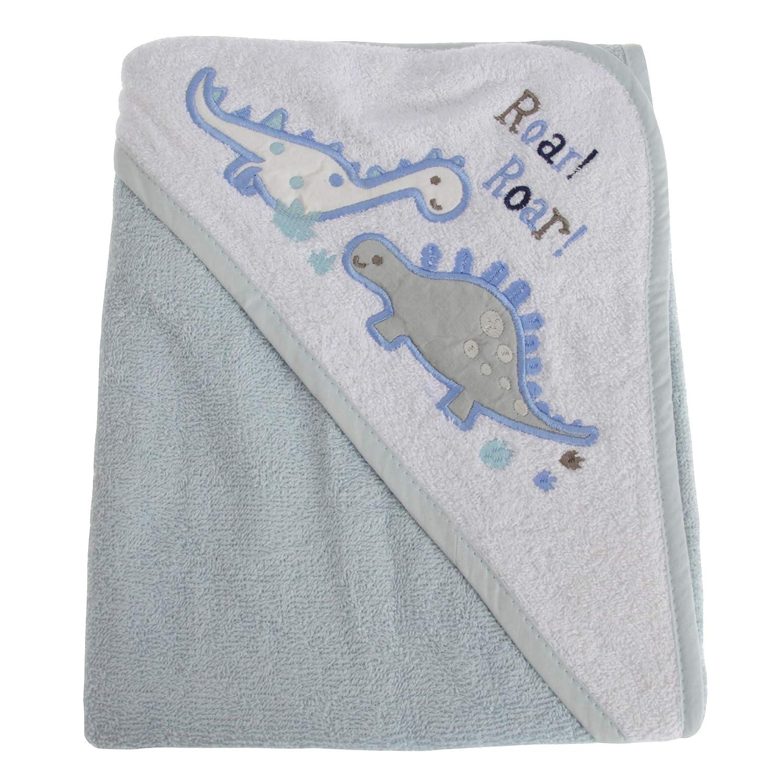 Snuggle Baby Baby Boys Dinosaur Hooded Towel (75 x 75 cm) (Blue) UTBABY1537_1