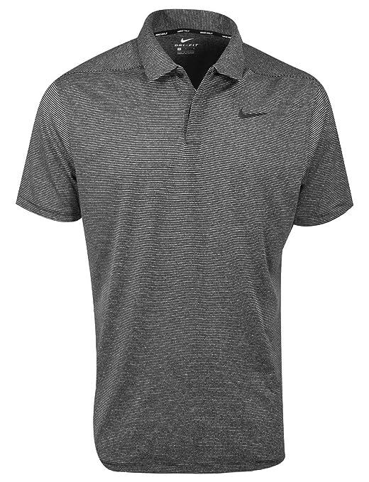 NIKE Mens Dry Control Stripe Golf Polo (Black, XX-Large): Amazon ...