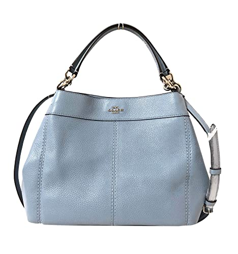 1d14233fc1 Coach Pebbled Leather Small Lexy Shoulder Bag Handbag (Cornflower ...