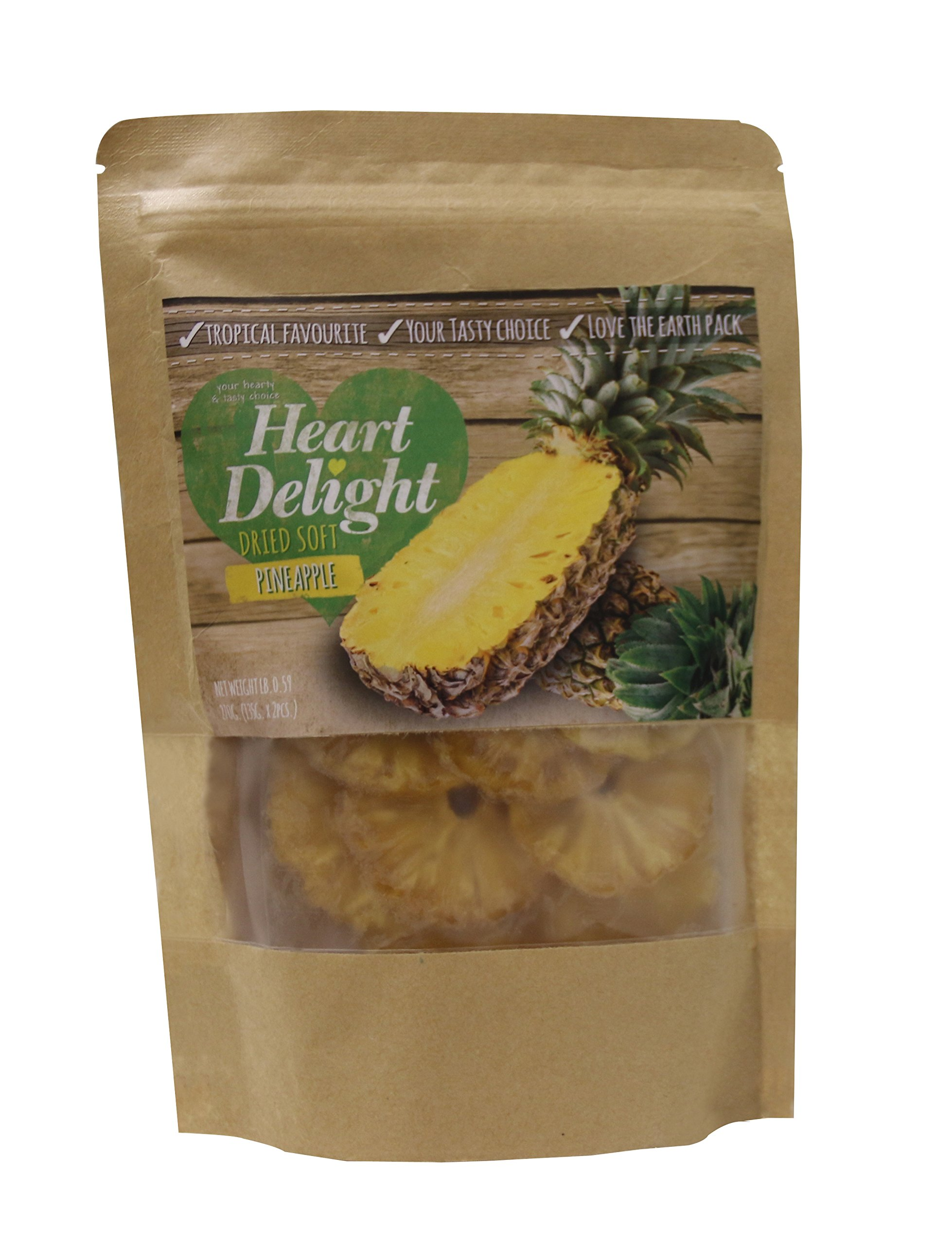 Heart Delight Dried Soft Tasty Tropical Pineapple Rings 270 gr. - 9.52 oz.