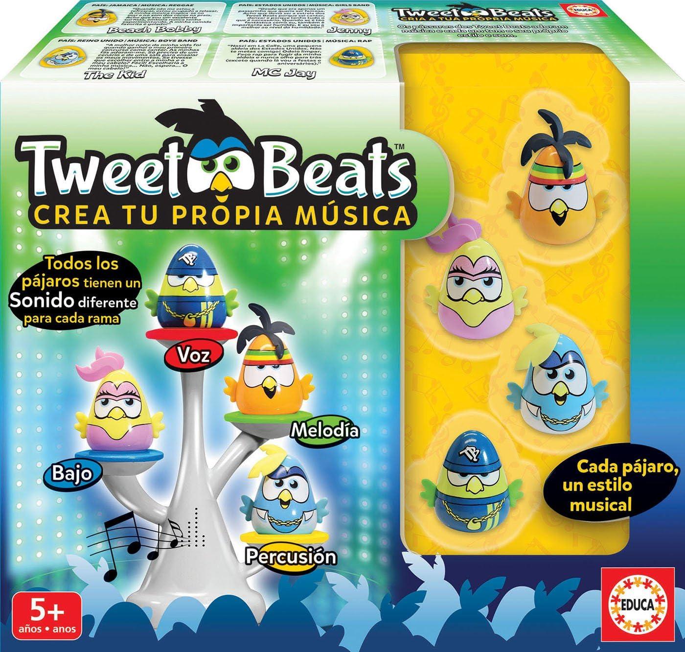 Educa- Tweet Beats CREA, Juego de Mesa Familiar de música, a Partir de 3 años, Multicolor (17911) , color/modelo surtido: Amazon.es: Juguetes y juegos