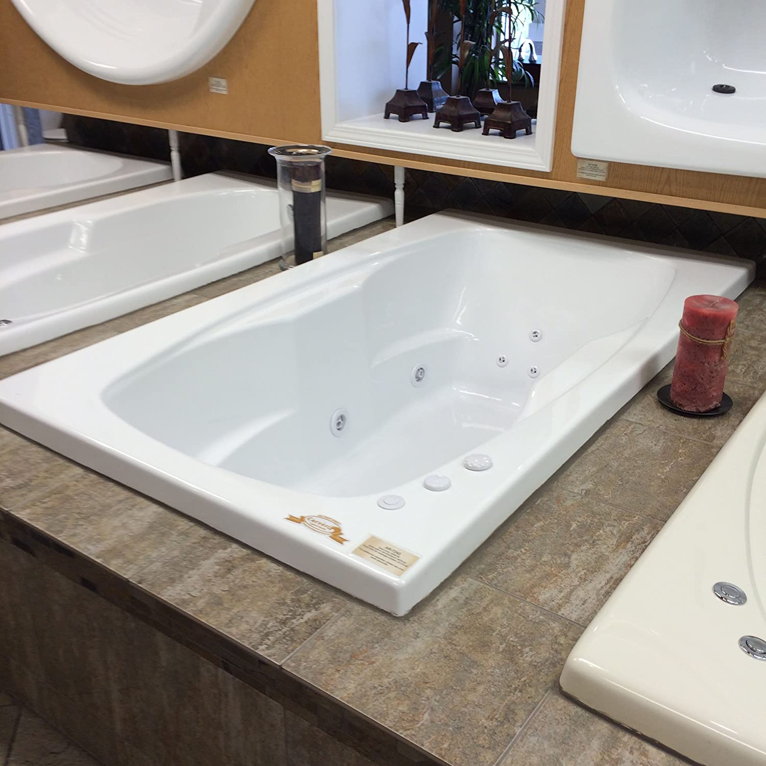 Carver Tubs AR7242 Whirlpool II Package - 12 Jets, 72\