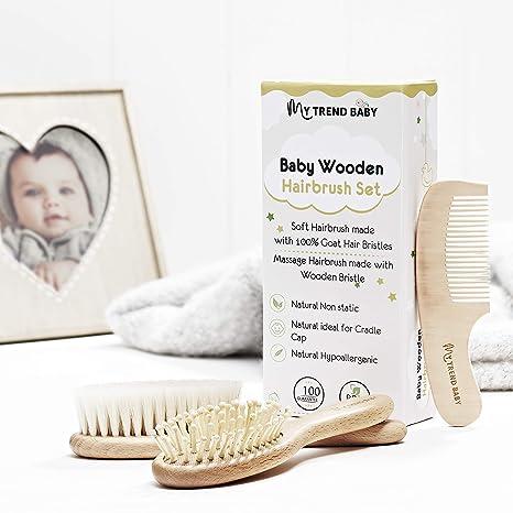 MyTrendBaby - Juego de 3 cepillos y peines para recién nacidos ...