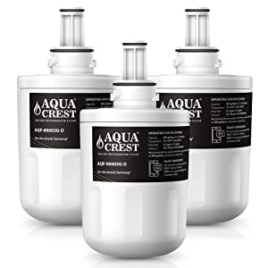 AQUACREST Replacement DA29-00003G NSF 401 Certified to Reduce 99% of Lead, Pharmaceuticals and More, Compatible with Samsung DA29-00003G, DA29-00003B, DA29-00003A, Aqua-Pure Plus, HAFCU1 (Pack of 3)