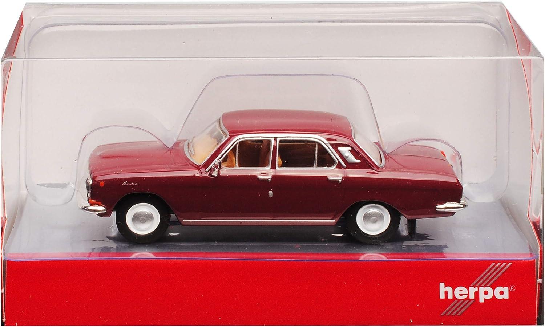 Wolga GAZ M24 Limousine Wein Rot DDR 1967-1992 H0 1//87 Herpa Modell Auto mit individiuellem Wunschkennzeichen