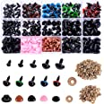 Plastic Safety Eyes and Noses with Washers 570 Pcs, Craft Doll Eyes and Teddy Bear Nose for Amigurumi, Crafts, Crochet Toy an