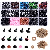 Plastic Safety Eyes and Noses with Washers 570 Pcs, Craft Doll Eyes and Teddy Bear Nose for Amigurumi, Crafts, Crochet…