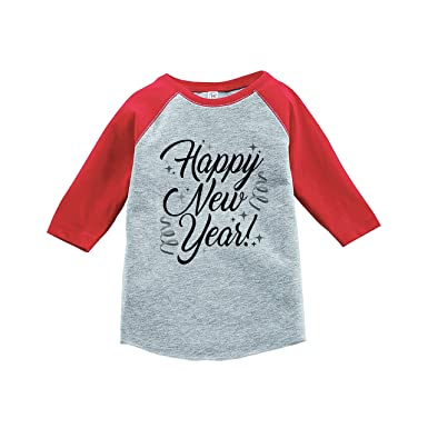 28d145519d27 Amazon.com: 7 ate 9 Apparel Kids Happy New Year's Eve Red Baseball ...
