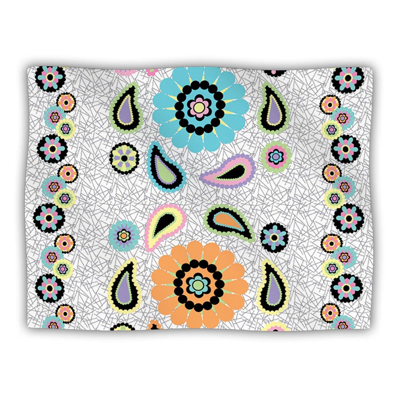 Kess InHouse Nina May ''Moda Paisley'' Paisley Flower Pet Dog Blanket, 60 by 50-Inch