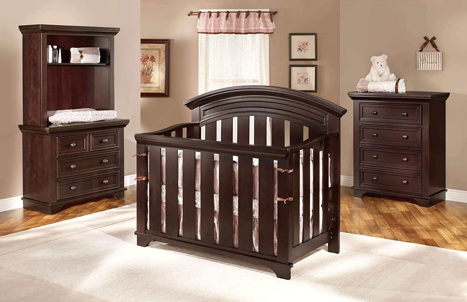 rough and espresso set dresser westwood cribs in nursery sawn actual hayden piece double crib