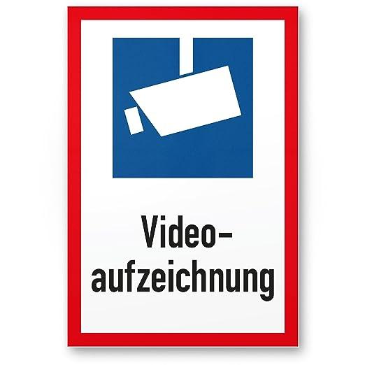Grabación de vídeo DIN Símbolo roja Marco (Formato Vertical ...