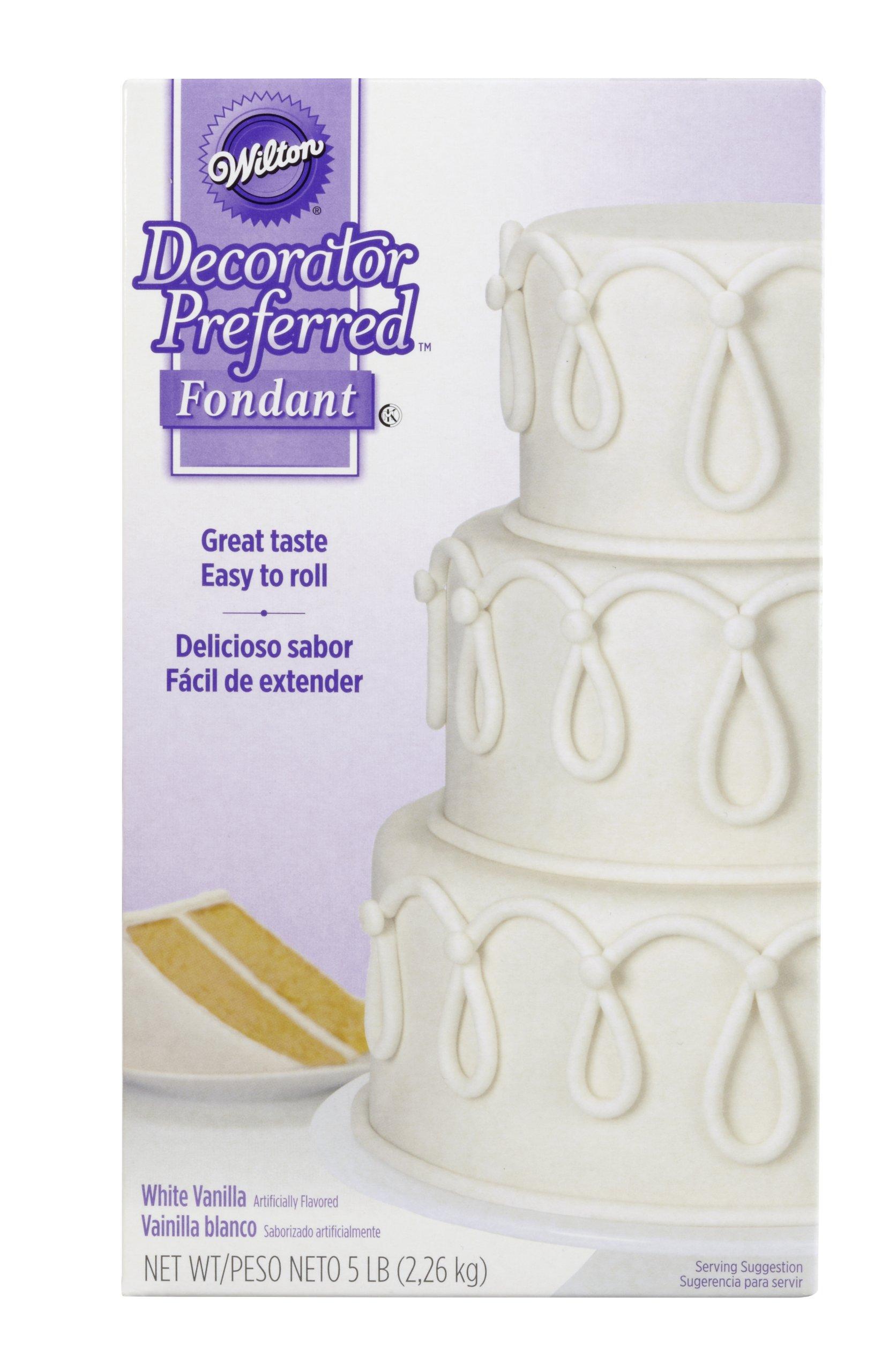 Wilton Decorator Preferred Fondant, 5-Pound, White, 710-2300