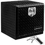 ARKSEN 18' Aluminum Truck Underbody Diamond Plate ToolBox w/T-Handle Latch Durable Pickup Trailer Storage Organizer Tool…