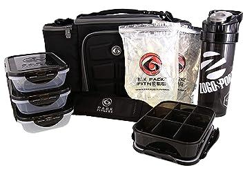 Amazon.com  6 Pack Fitness Bag Innovator 300 Black Grey (3 Meal ... 8ff93440e1339