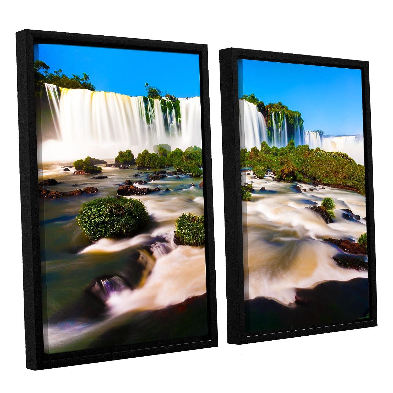 ArtWall 2-Piece Cody Yorks Brazil 2 Floater Framed Canvas Set 32 by 48-Inch