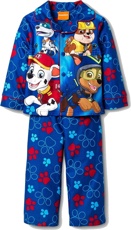 AME Paw Patrol Toddler Boy Button Down Blue Pajama Set Size T3