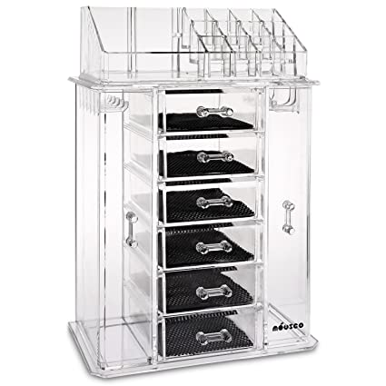 Amazoncom Miusco Jewelry Box and Makeup Organizer Set 24 Slots