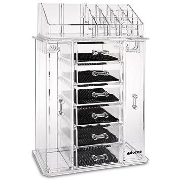 Amazoncom Miusco Jewelry Box And Makeup Organizer Set Slots - Clear acrylic makeup organizer