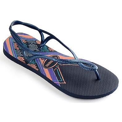 1e561219556a77 Havaianas Women s Luna Print Ankle Strap Sandals  Amazon.co.uk ...
