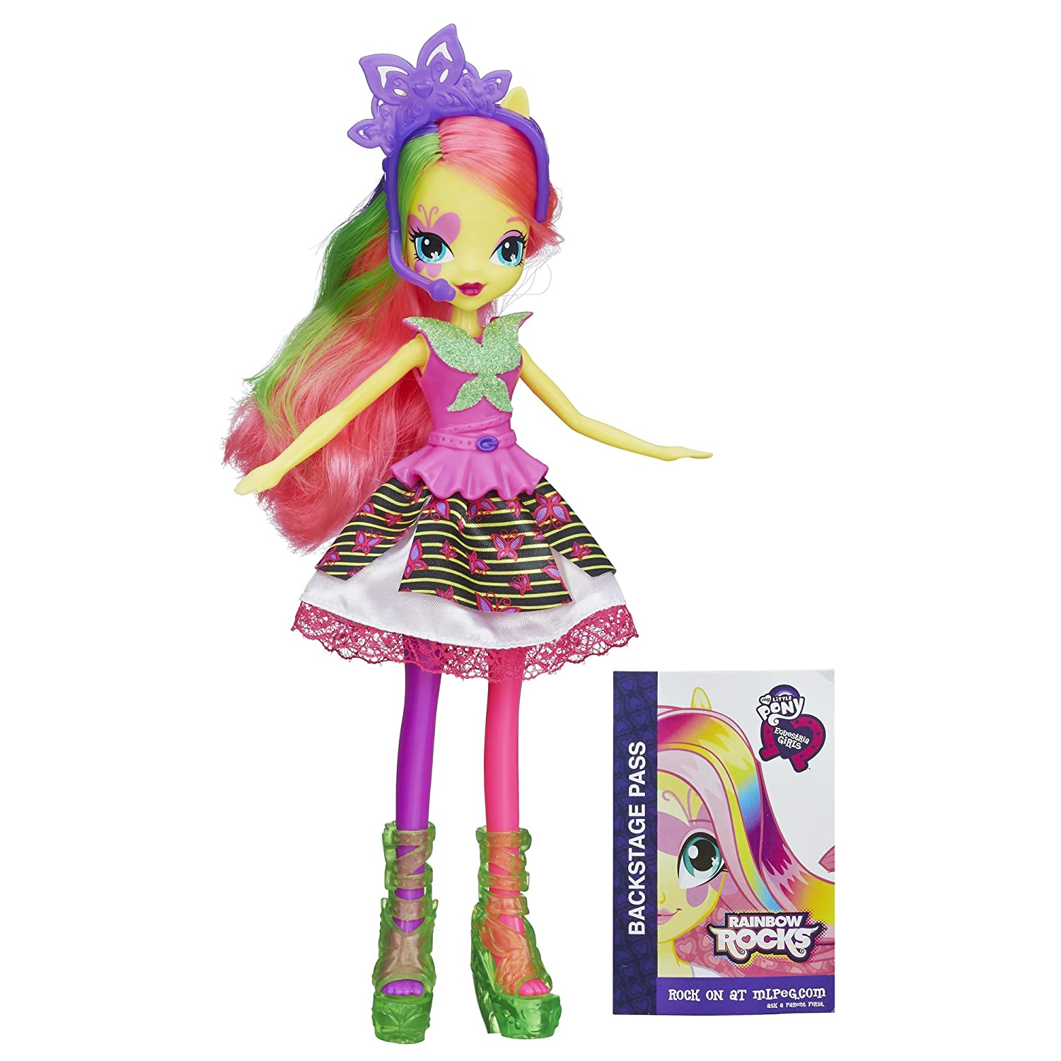 Amazoncom My Little Pony Equestria Girls Neon Rainbow Rocks