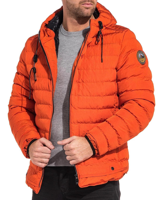 feinste Stoffe Exklusive Angebote Schatz als seltenes Gut Legender`s Winter Jacket Orange mit Kapuze Mann - Color ...
