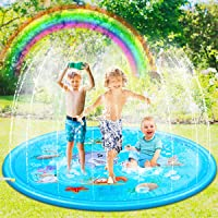 "ENTHUR 68"" Sprinkler Pad Splash Play Mat Toy for Kids Wading Pool for Learning Children's Sprinkler Pool Extra Large Inflatable Outdoor Sprinkler Pad Toys for Kids Boys Girls"