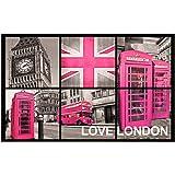 Tapis Déco Tapis Polyamide/Latex Imprimé London Girl 80 x 50 x 80 cm