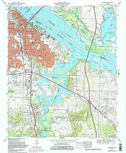 Amazon.com : YellowMaps Decatur AL topo map, 1:24000 Scale, 7.5 X ...