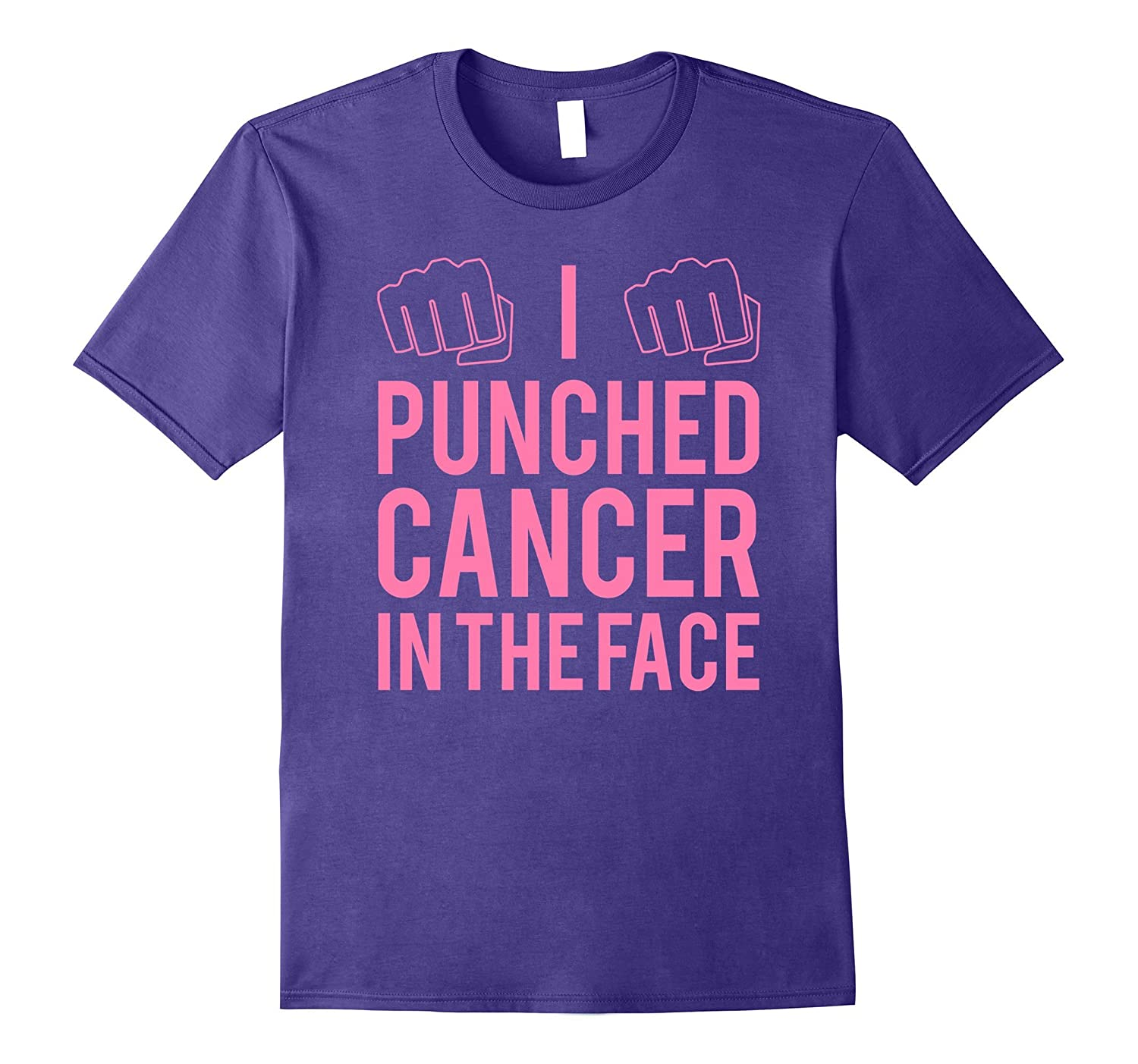 I Punched Cancer In The Face - Funny Cancer Fighting T-Shirt-Art