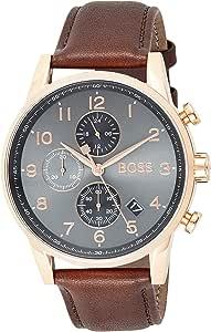 Hugo BOSS Reloj Cronógrafo para Hombre de Cuarzo con Correa en Cuero 1513496