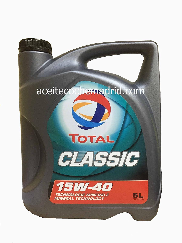 ACEITE TOTAL CLASSIC 15W40 5 LITROS