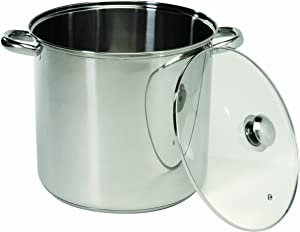 ExcelSteel Stockpot with Encapsulated Base, 8 quarts, Silver