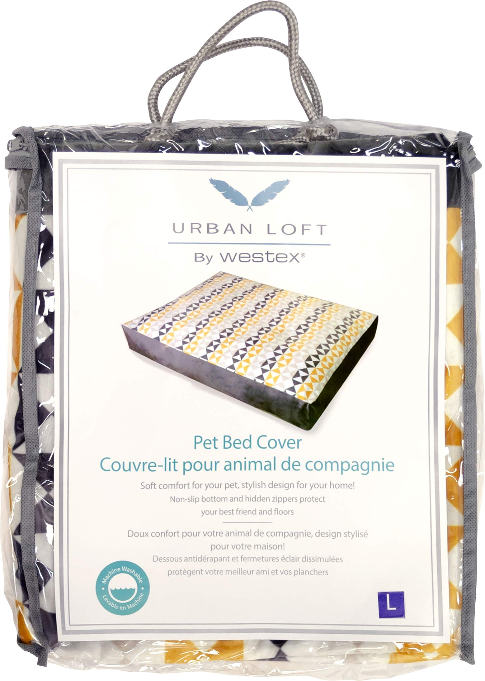 Urban Loft by Westex Triangle Design Pet Bed Replacement Cover, 52'' x 35'' x 6'' by Urban Loft by Westex (Image #5)