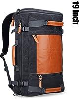 Witzman Men's Retro Canvas Duffel Travel Rucksack Backpack