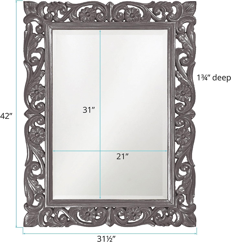 Black Howard Elliott Collection 2113BL Chateau Mirror
