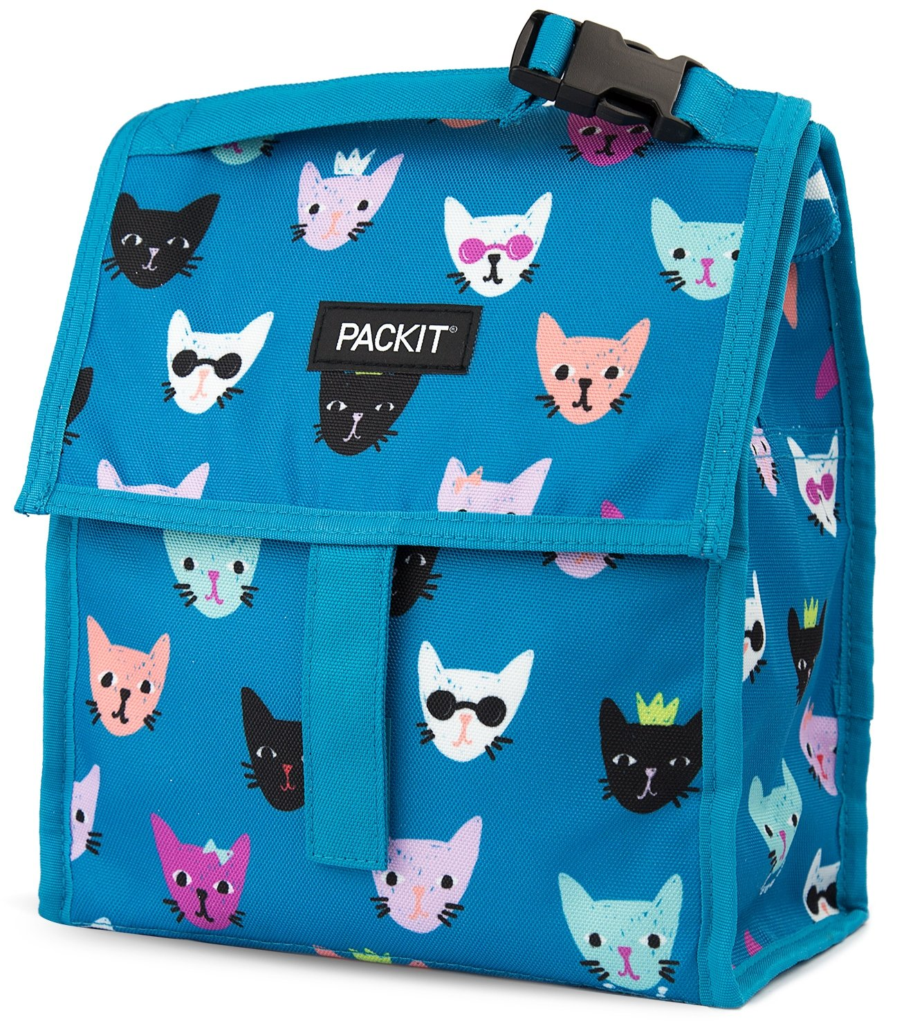 PackIt Freezable Lunch Bag with Zip Closure, Catty by PackIt