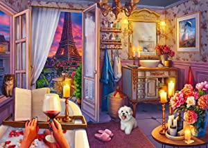 Ravensburger 16789 Cozy Bathroom - 500 PC Puzzles Large Format for Adults – Every Piece is Unique, Softclick Technology Means Pieces Fit Together Perfectly