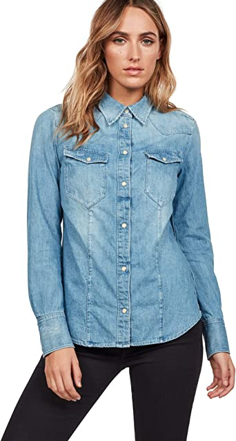 G-STAR RAW Tacoma Straight Shirt Blusa para Mujer