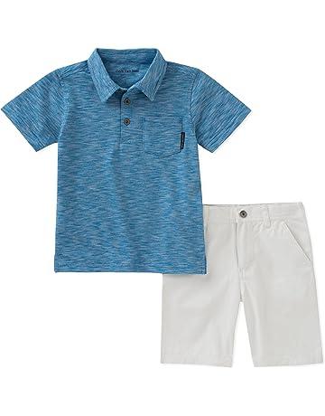 ff5b6782 Calvin Klein Baby Boys 2 Pieces Polo Shorts Set
