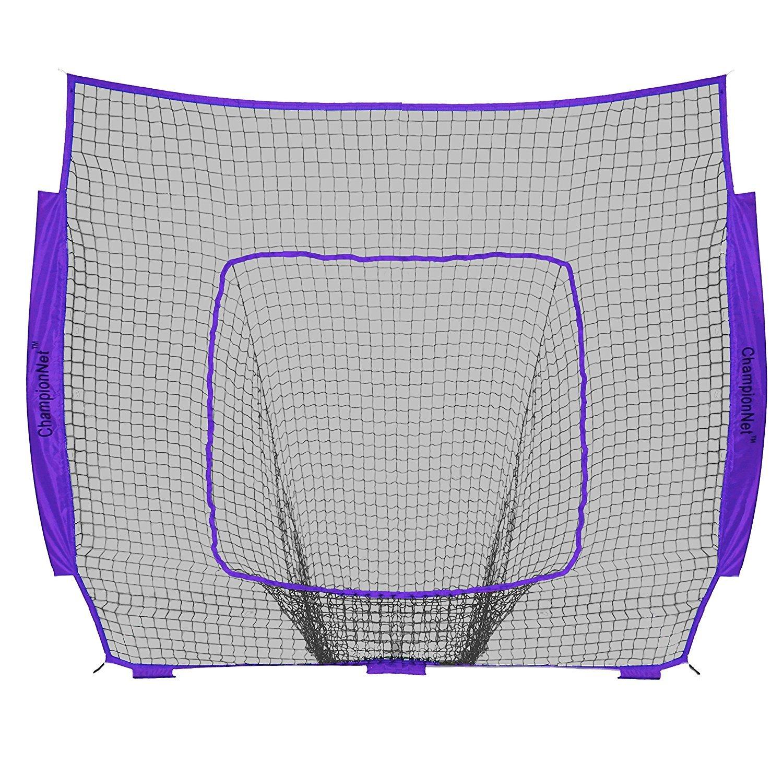 ChampionNet Baseball/Softball 7' x 7' Hitting Net Replacement NO Frame - Purple by ChampionNet