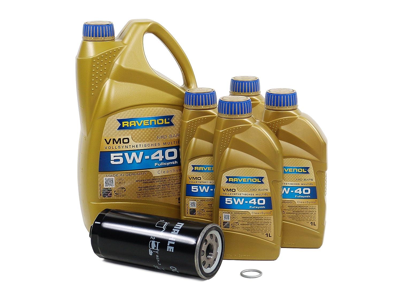 Blau j1 a5074-b Audi s6モーターオイル変更キット – 2002 – 03 W / 8円柱4.2lエンジン – 5 W40 B01F25AXH2